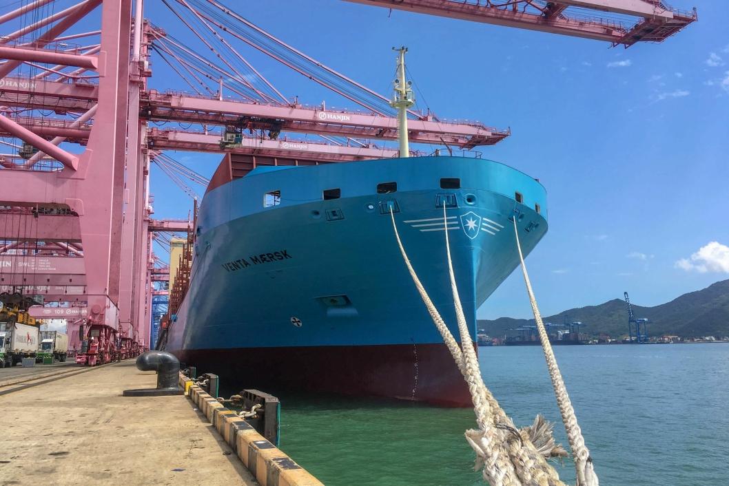 Venta Maersk er laget for å kunne operere i temperaturer ned til – 25. Hun har en kapasitet på 3,596 TEU, men på turen mellom Busan og Bremerhaven hadde hun med seg 660 reefercontainere.