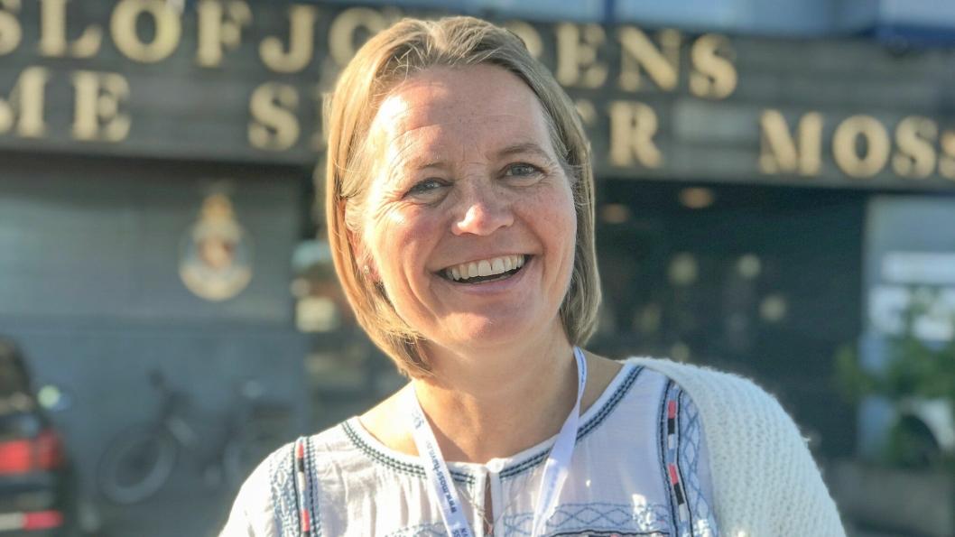 Line Håkensen fra Fredrikstad har startet opp som økonomi- og administrasjonssjef i Moss Havn KF. Foto: Moss Havn.