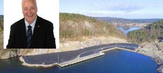 Bård Hoksrud åpnet storhavn