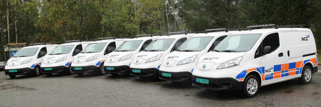 Totalt ti Nissan NV200 varebiler skal operere for NCC i Oslo-området.