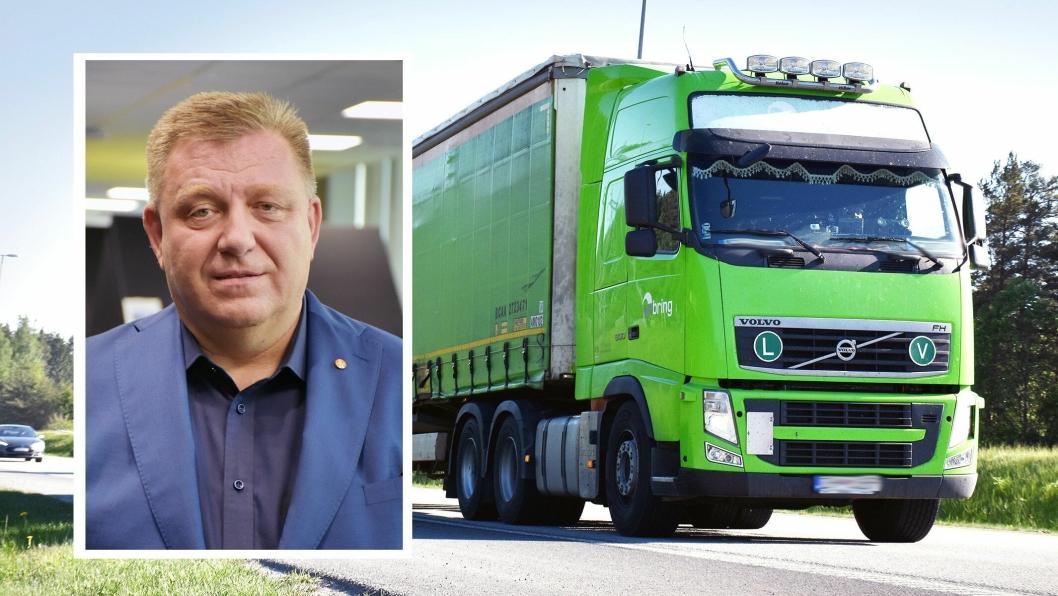 NLF-direktør Geir A. Mo tar et oppgjør med Bring Trucking og det han mener er usaklig retorikk og bevisst tåkelegging. (Foto: Stein Inge Stølen/NLF)