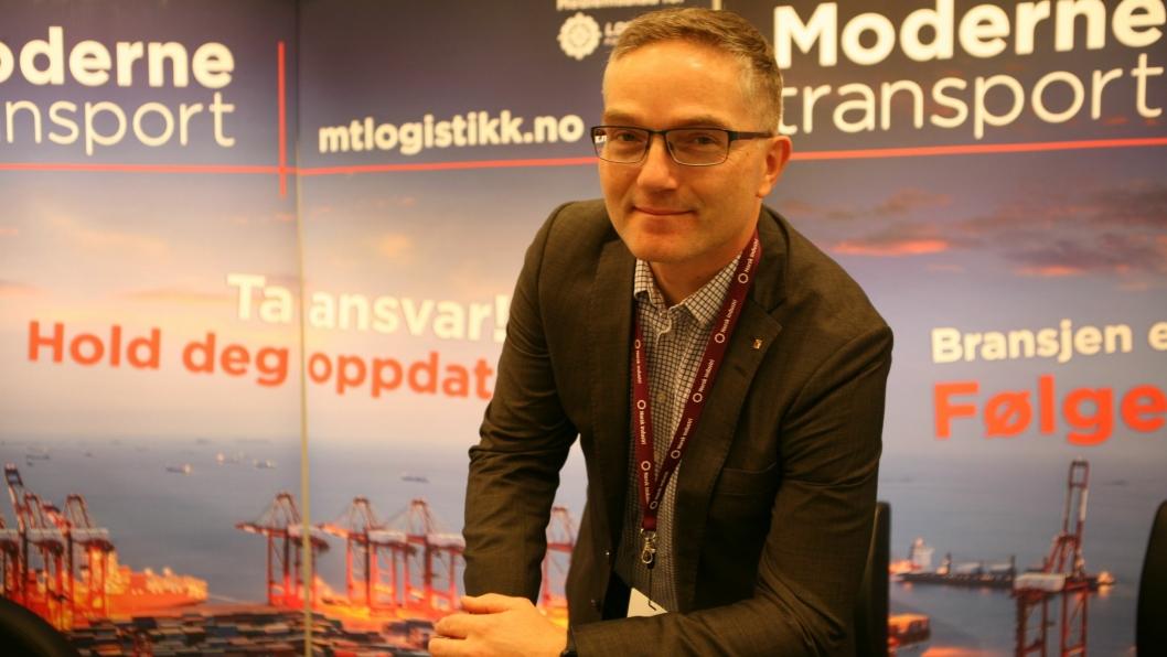 Lars Inge Fenes er som nyvalgt styreleder pålagt et stort ansvar med å løfte Logistikkforeningen til ny suksess. Foto: Per Dagfinn Wolden