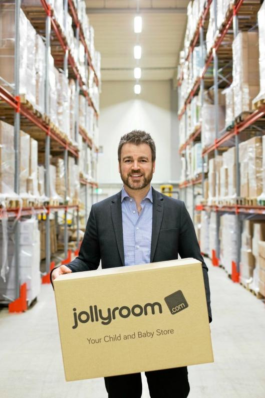 VEKST: Ole Sauar startet Jollyroom hjemme i stua for åtte år siden. Nå omsetter selskapet for 1,5 milliarder kroner og har Nordens største netthandelslager.