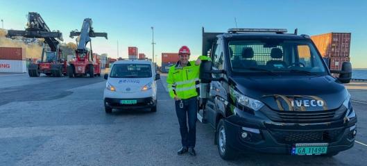Ny gassdrevet lastebil på plass