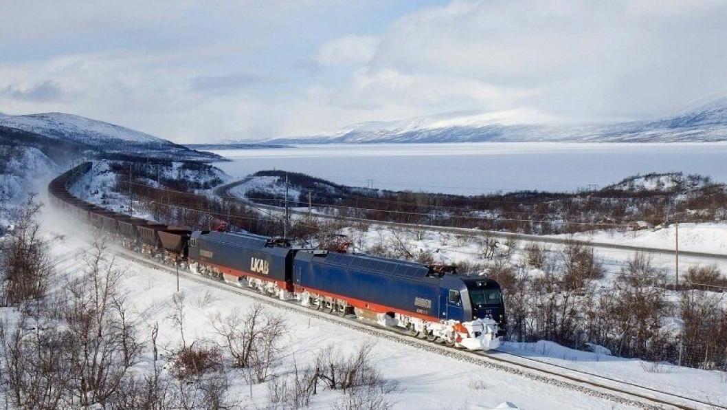 LKAB er med på testdriften for 32,5 tonns tog på malmbanen mellom Kiruna og Narvik.