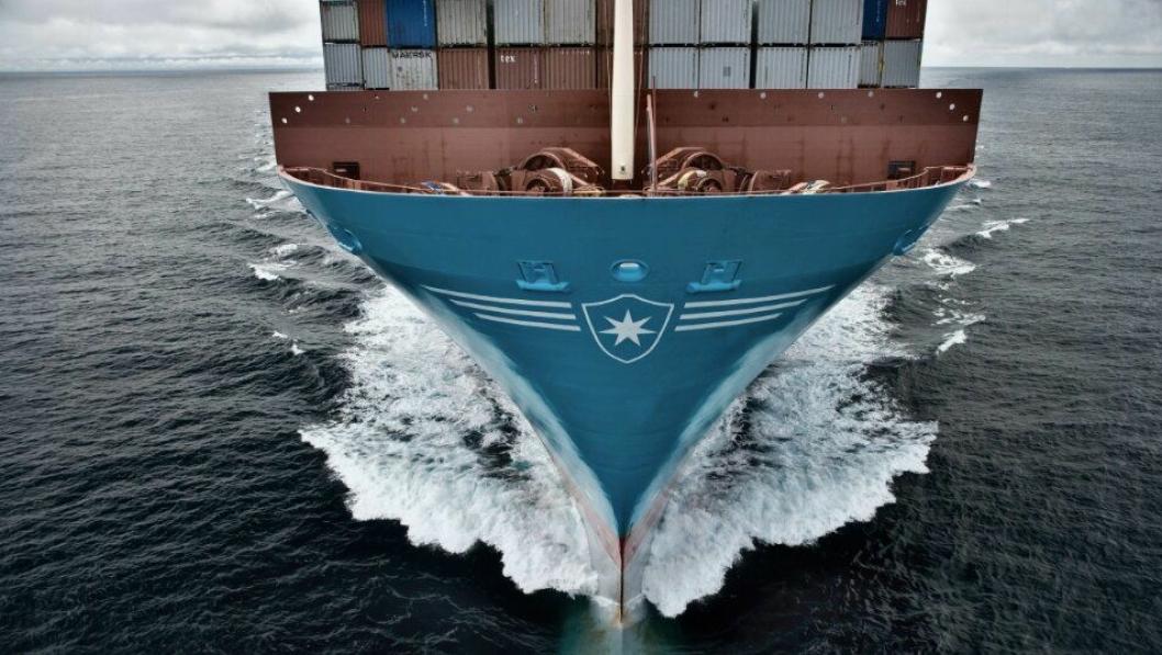 Fraktgiganten til sjøs setter nye klimamål. (Foto: Maersk)