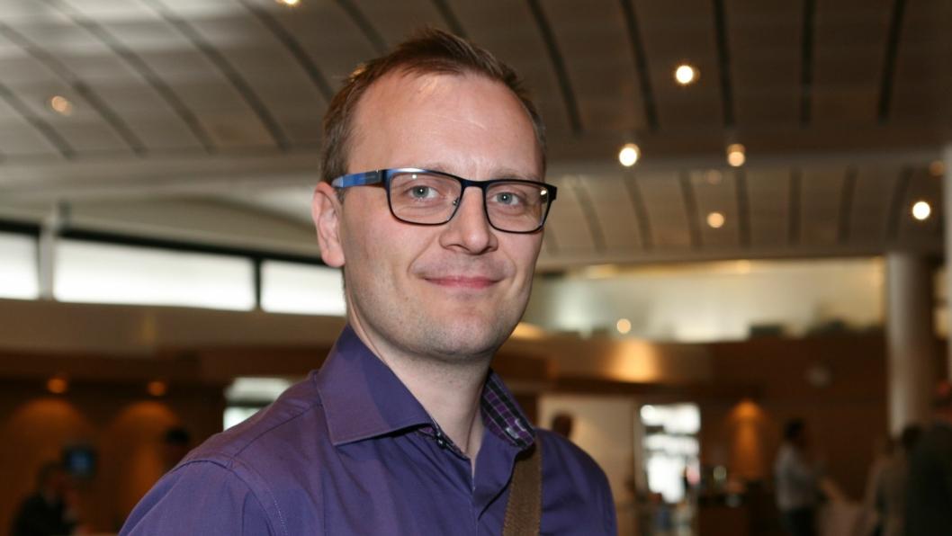 Steffen Larvoll møter de nye it- og logistikkutfordringene i norsk varehandel som ny markedsutviklingsleder i DRIW AS, Oslo. Foto: Per Dagfinn Wolden