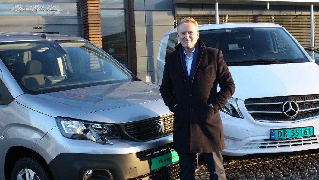 - Styrken til Bertel O. Steen er at vi har mange merker og stor bredde i vårt varebilutvalg, sier Bjørn Maarud, konsernsjef i Bertel O. Steen, som er godt fornøyd med å være størst på varebil i 2018.