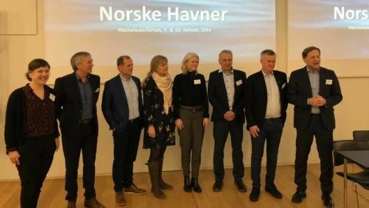 Det nye styret i Norske Havner 2019.