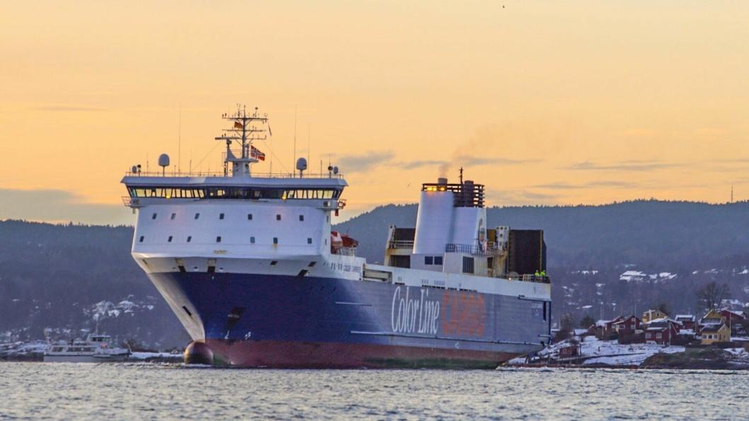 Color Carrier la ut på sin første tur fra Oslo til Kiel torsdag.