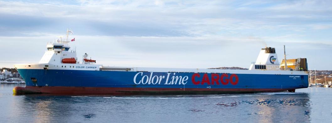 Color Carrier ankom Oslo for første gang 9. januar 2019. Skipet ble satt i trafikk mellom Oslo og Kiel 10. januar 2019.