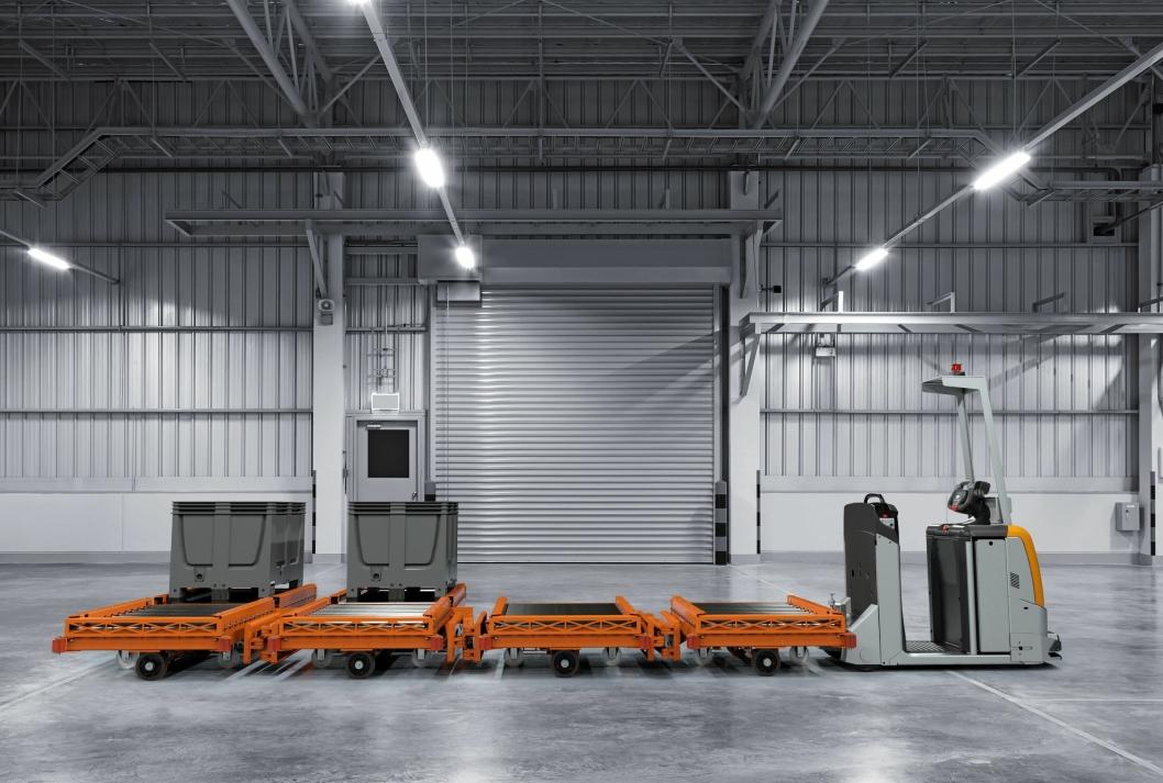 Dette er en automatisert trekk-truck med automatisert på- og avlasting, som ifølge produsenten gir høy pålitelighet, enkel betjening og lave investeringskostnader.