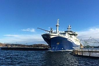 Her er Norwegian Gannet endelig i gang