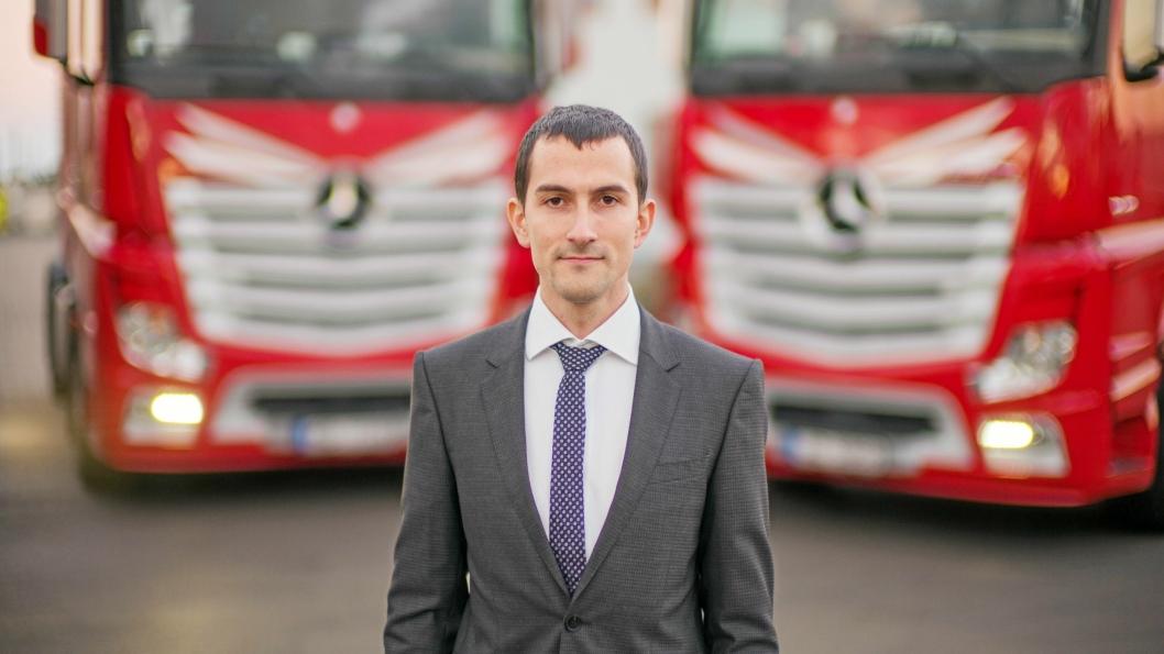 VEKST: Pavel Solovjovs er kommersielldirektør i Kreiss. Han har jobbet i Kreissi 12 år. Da han begynte hadde selskapet45 lastebiler - dag har de 1500.