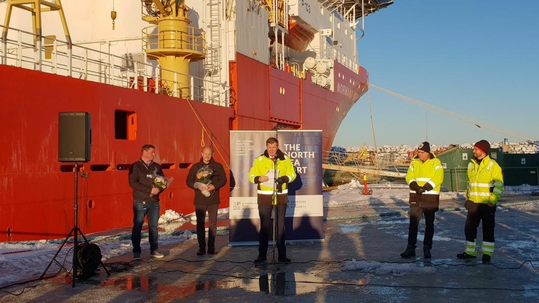 Landstrøm er på plass i Karmsund Havn.