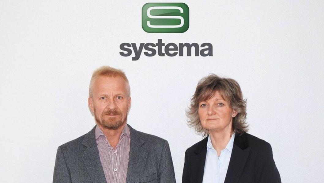Systema-gründer Svein Huse og daglig leder Birgit Vegheim skal fortsette i sine jobber etter oppkjøpet.