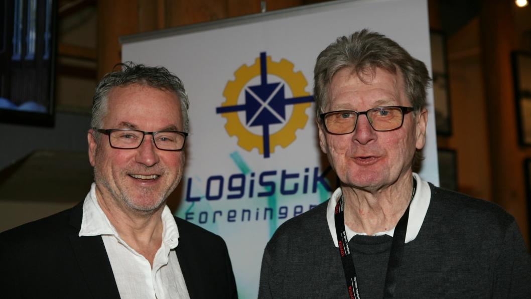 Logistikkprofessor Ola Strandhagen (t.v.) og Logisticas Rolf Aarland er logistikksjefenes nye talerør. Foto: Per Dagfinn Wolden