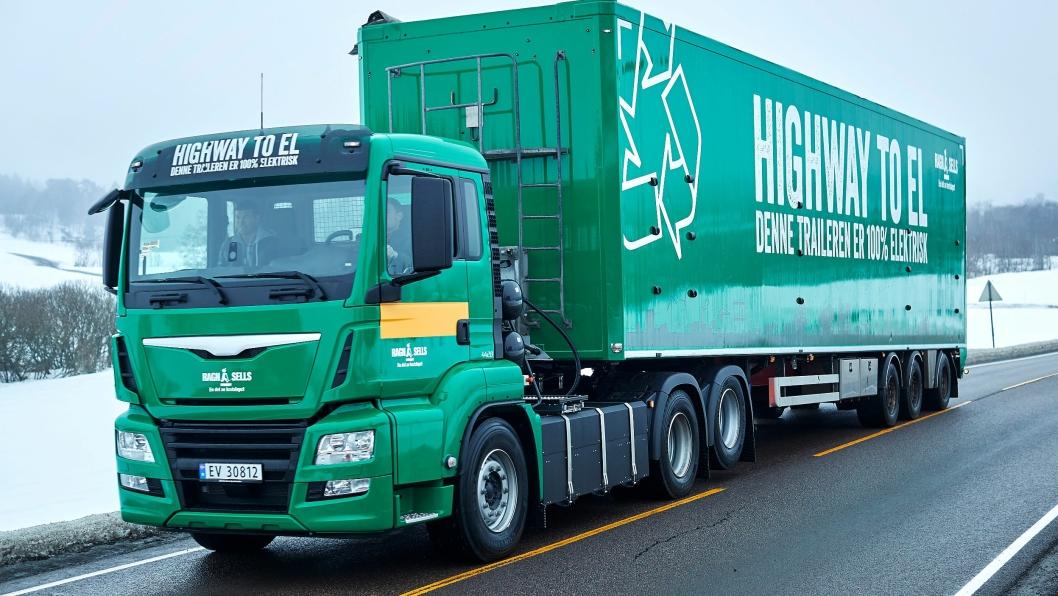 Den splitter nye trekkvognen er 100% elektrisk, og skal frakte avfall i skytteltrafikk gjennom Oslo.