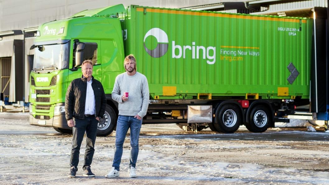 Logistikkdirektør Thor Molle (t.v.) og eier Einar Øgrey Brandsdal i Brandsdal Group.