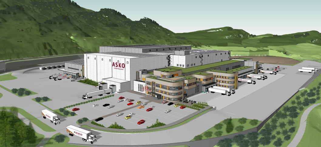 Asko Oslofjord AS bygger et helt nytt anlegg i Sande. Det skal fylles med automasjon fra SSI Schäfer.