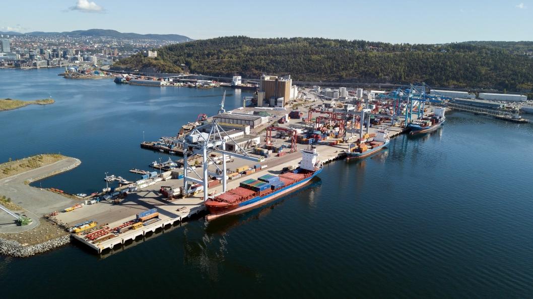 Oslo Havn har planer om utvidelse av containerterminalen på Sjursøya .