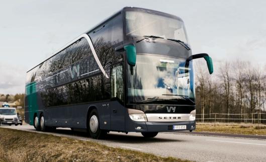 Slik vil bussene til Nettbuss bli seende ut.