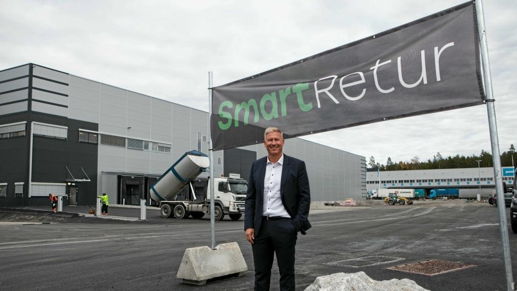 Eier og konsernsjef  i SmartRetur, Søren Eriksen, gleder seg over vekst og utvidelse av virksomhetsområde.