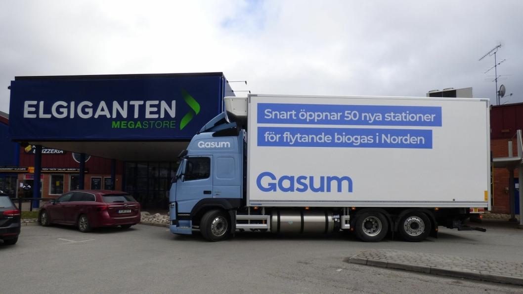 Volvo Lastebilers gassbiler drives av 100 prosent flytende biogass, noe som gir helt fossilfri transport.