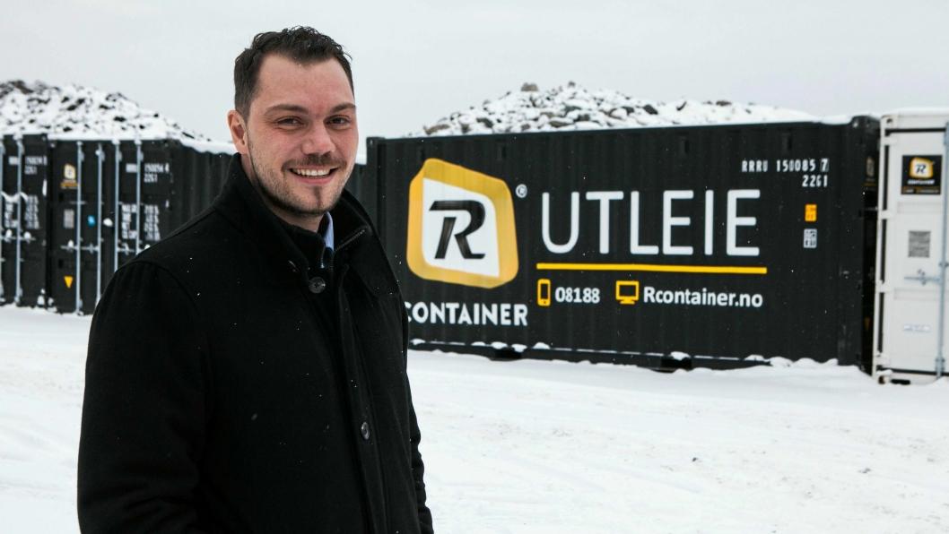 Richard Anfinsen Sandvik startet Rcontainer i 2007. Nå skifter selskapet navn til Reblock.