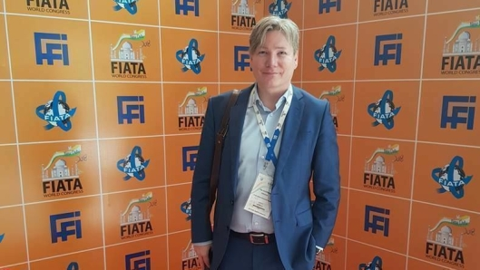 FIATAs Mr. Vice President, Ole Andreas Hagen, på plass i New Delhi i fjor høst.