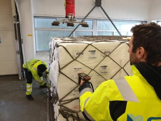 Schenker benytter løsningen på begge sine hub´er på Gardermoen for kvalitetskontroll av fersk fisk. Her fra GPC Gardermoen Perishable Center.