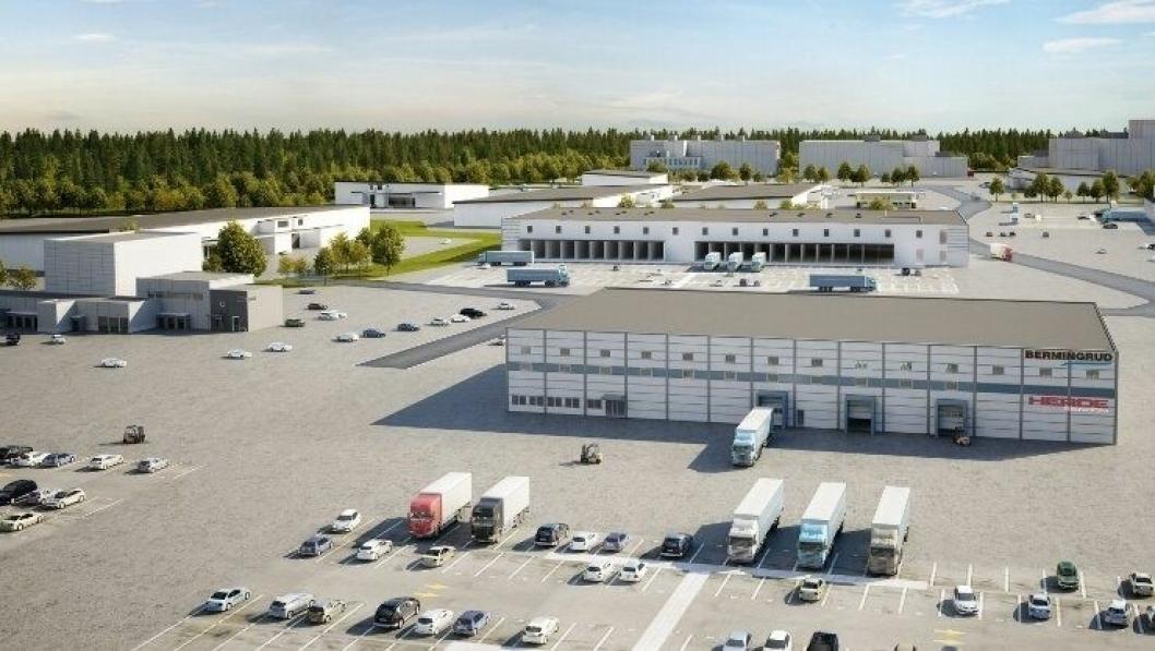 Logistikkparken på Holtskogen i Østfold er eksempel på attraktiv logistikkeiendom.