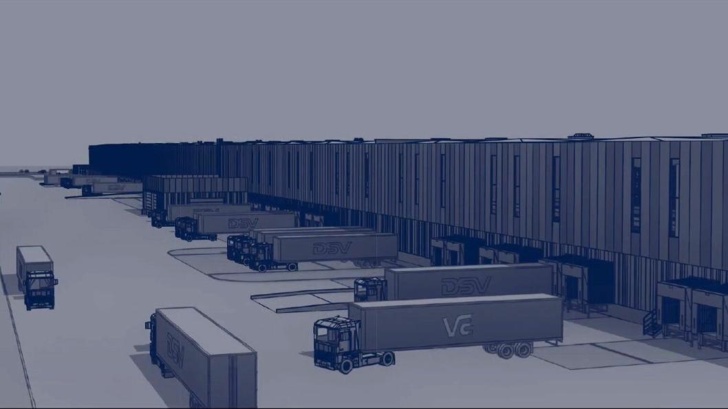Det nye anlegget vil ha rundt 150 kjøreporter og anslagsvis 400 ansatte når alt står ferdig.