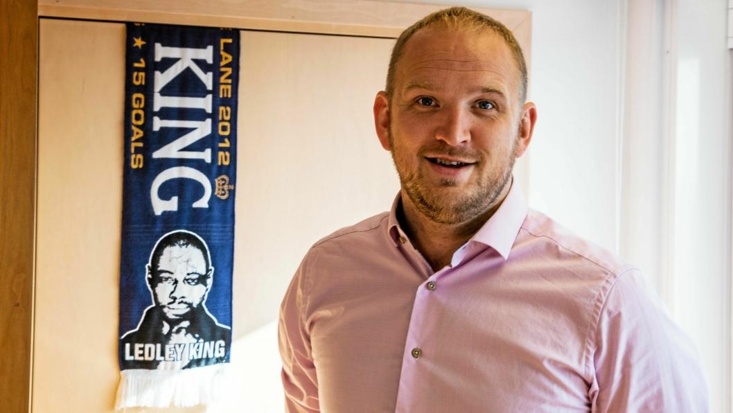 Det eneste Birger Solvang i Logistikkforeningen hadde å anføre mot samferdselsministeren er hans favorittlag i fotball, som er Tottenham. - Det er Manchester United som ruuuler, smiler Solvang. (Og tar selvfølgelig feil :))