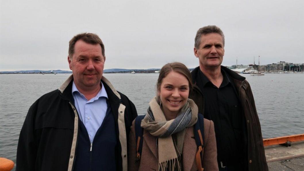 Carl Johan Hatteland fra Oslo Havn sammen med Elin Osnes Strand og Trond Sikveland fra Kristiansand Havn