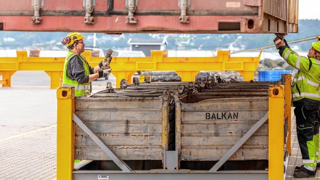 2019 kan bli et nytt år for volumrekord for gods over Larvik Havn sine kaier. Foto: Larvik Havn.