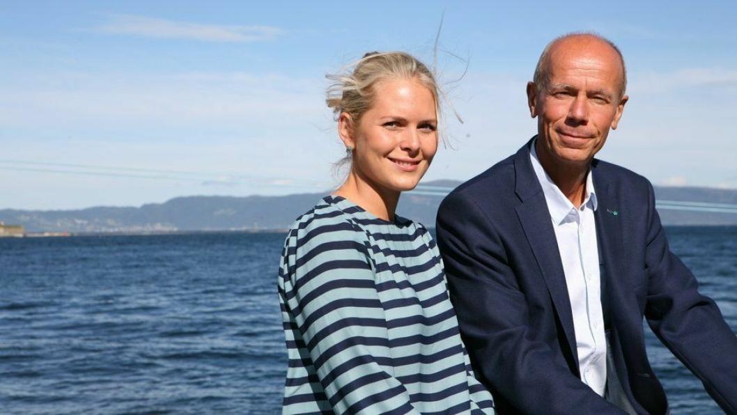 Markedssjef i Trondheim Havn, Kirsti Østensjø, her avbildet sammen med  havnedirektør Einar M. Hjorthol. Foto: Per Dagfinn Wolden.