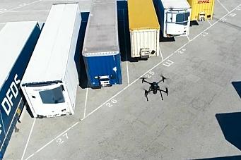 Bruker drone til å holde styr på trailere