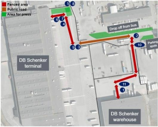 BEGRENSET: Det er foreløpig en relativt begrenset strekning T-poden skal trafikkere, mellom et lager og en terminal.