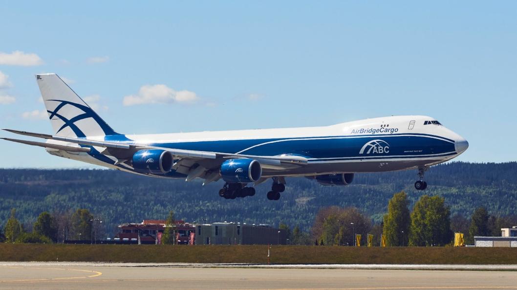 AirBridgeCargo har nå tre ukentlige avganger med Boeing 747 fra Gardermoen.