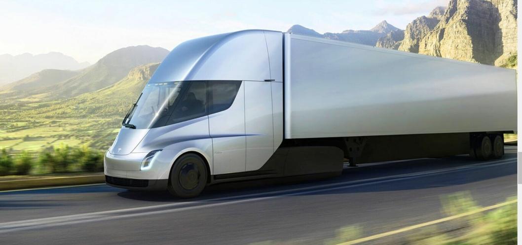 HELELEKTRISK: Tesla Semi er Teslas forsøk på å vinne konkurransen om de utslippsfrie lastebilkundene.