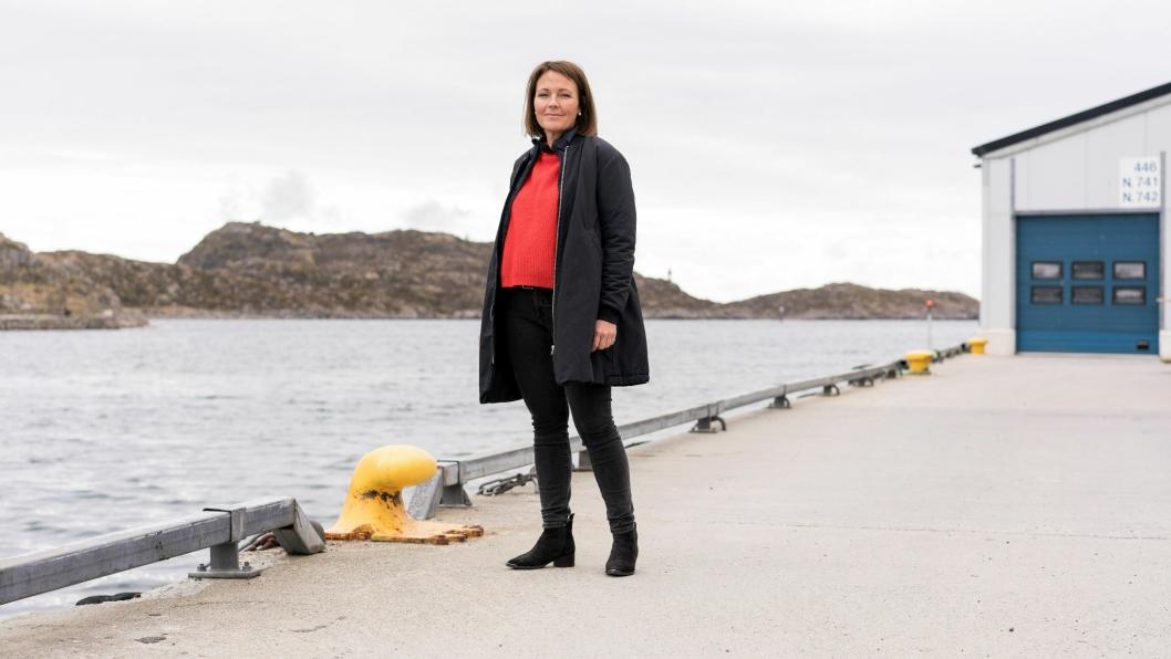 Adm. direktør Line Ellingsen og hennes tradisjonelle fiskeribedrift står i et nytt drama. (Foto: NHO)