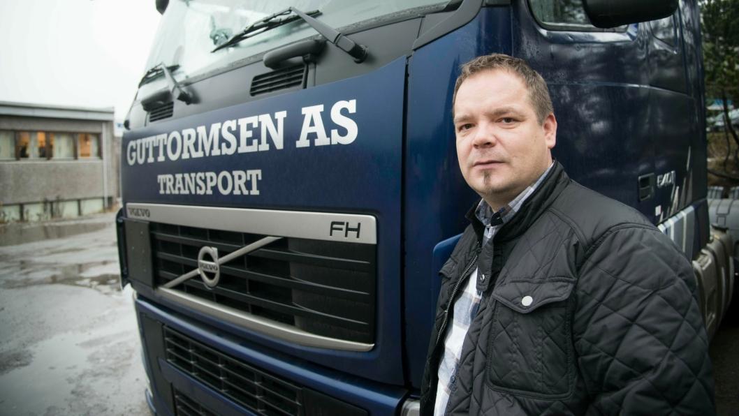 Jørn-Are Guttormsen, daglig leder i det nå konkursrammede Guttormsen Transport AS. Bilde fra 2015, tatt ved firmaets kontor i Nittedal (Akershus). Firmaet hadde også kontor i Tana i Finnmark.FOTO: ESPEN BRAATA