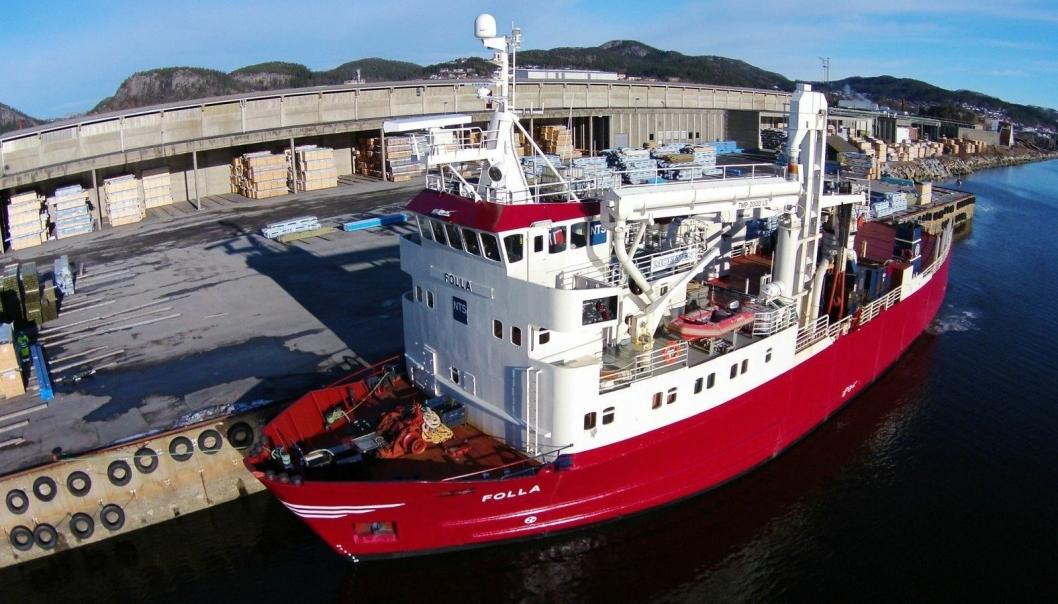 MS Folla settes inn i rute fra Trondheim til Øksfjord.