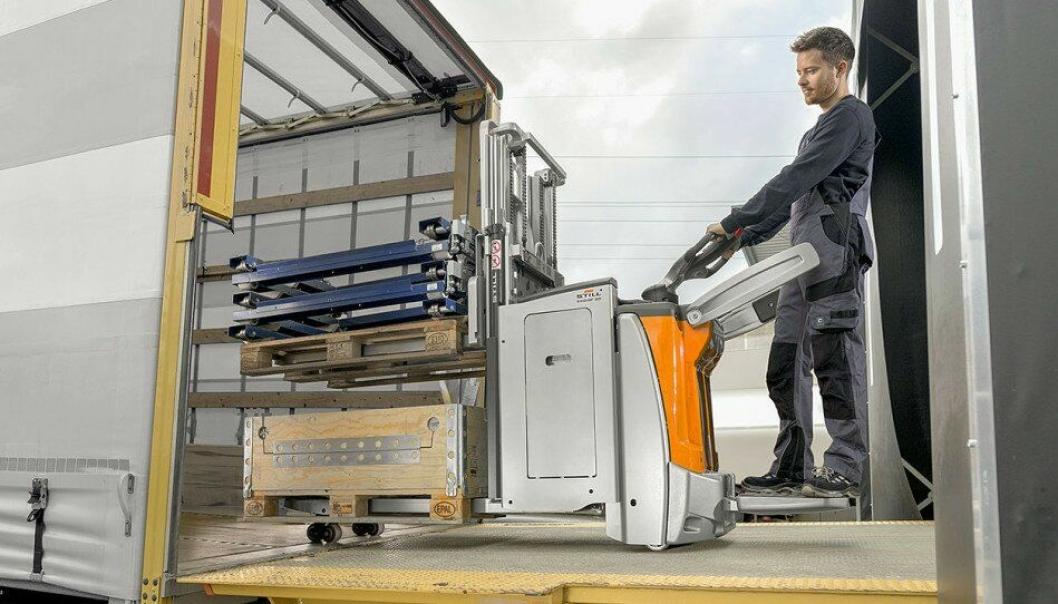 EXD-SF kan frakte to paller på 1000 kg hver.
