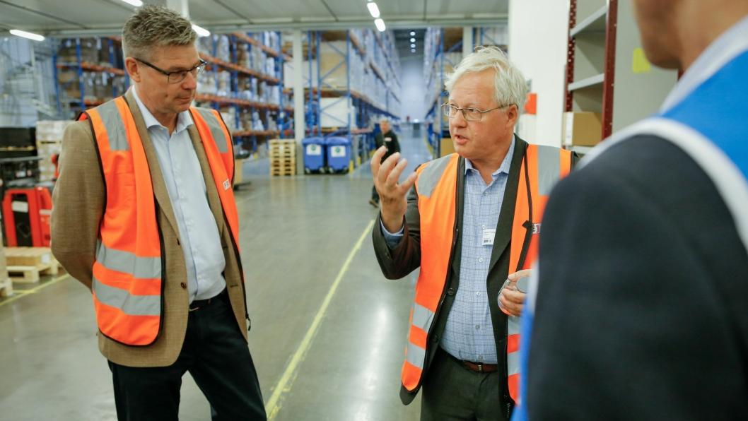 ENIGE: Administrerende direktør i FREJA Norge, Kjell-Arne Eloranta (t.v) og Nordic Supply Chain Manager i B. Braun, Freddy Wilhelm Hansen, er enige om at kvalitet er pri én.