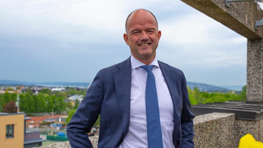 NHO-sjef Ole Erik Almlid skrytet av PostNord på selskapets årlige Futurum-konferanse.