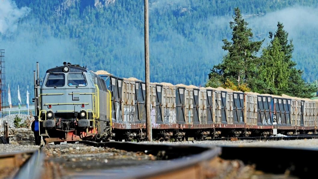 Flistransport på Rørosbanen og Solørbanen i regi av TX Logistik AB. Gods til og fra Østfold må i sommer gå via Sverige.