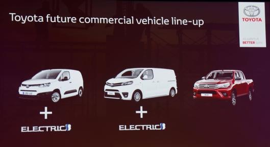 Fremtidige varebilmodeller fra Toyota.