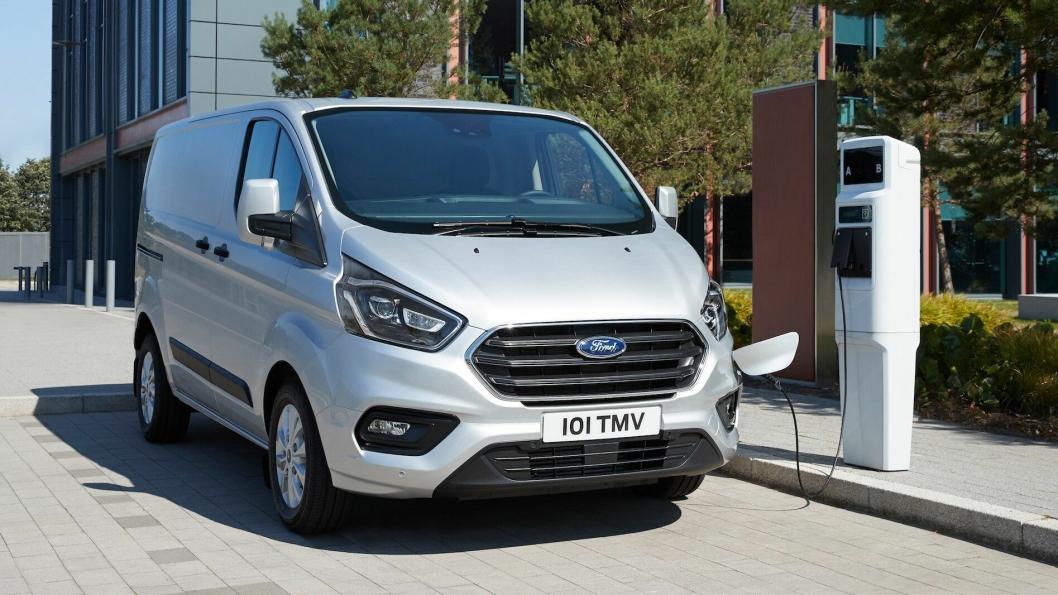 I London sentrum oppnådde Ford 75 prosent elektrisk drift med hybrid-varianten av Transit Custom.